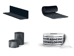 CORNER-S WALL-S PHONOTAPE ADHESIVE, accessory items for sound insulation