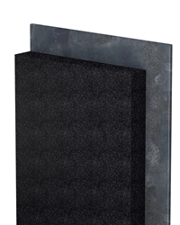 PANEL BLACK, thermal insulating system made of insulating material panels added with graphite, coupled to bituminous waterproofing membrane