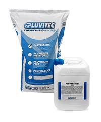 Pluvelastic, dual-component waterproofing elastic cement mix for external protection and waterproofing